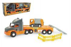 Wader Auto nákladní Super Tech Truck návěs 78cm + auto popelář 24cm plast Wader v krabici 78x28x20cm