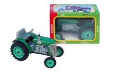KOVAP Traktor Zetor zelený na klíček kov 14cm 1:25 v krabičce