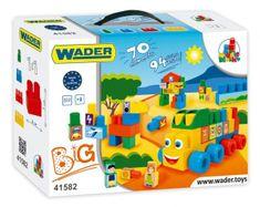 Wader Kostky stavebnice Middle Blocks plast 70ks v krabici 40x40x15cm 12m+ Wader