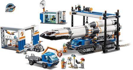 LEGO® City 60229 Rakéta összeszerelés és szállítás