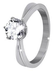 Troli Acél gyűrű csillogó kővel