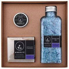 Angelic Darčeková krabička Angelic kúpeľová soľ levanduľovej upokojenie