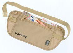 Travelite Bezpečnostná kapsička s RFID ochranou béžová