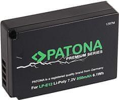 PATONA Baterie pro foto Canon LP-E12 850mAh Li-Ion Premium (PT1297)