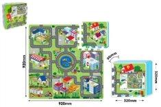 Wiky Pěnové puzzle Město 32x32x1cm 9ks v sáčku 10m+