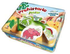 Bonaparte Balanční hra Prehistoric pro nejmenší dřevo v plechové krabici 24x20x7cm