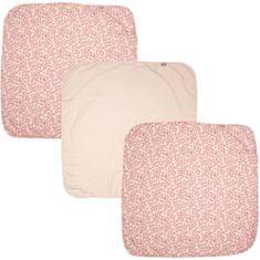 Bebe-jou Bambusz muszlin pelenka 70x70xcm, 3 db-os készlet, Leopard Pink