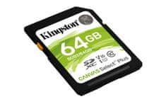 Kingston SDXC Canvas Select Plus pomnilniška kartica, 64 GB 100 MB/s, C10, UHS-I, U1, V10