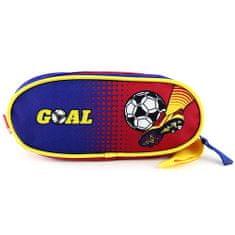 Goal Piórnik szkolny, eliptyczny, niebiesko-czerwony