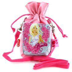 Barbie Pouzdro na mobil , růžová, s motivem panenky