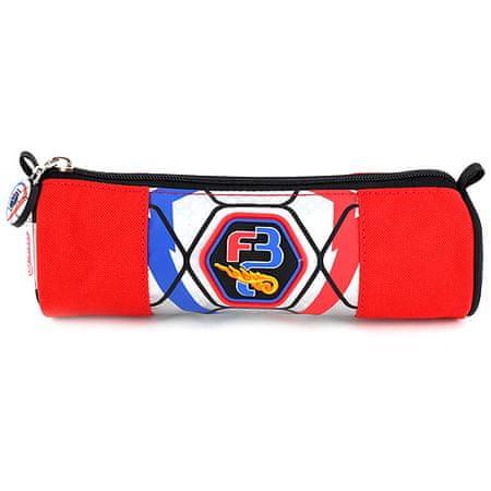 Goal Šolska škatla za svinčnike brez Target refill, okrogla, srebrna / rdeča