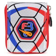 Goal Kapus pénztárca, fekete / piros, ezüst motívummal