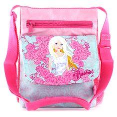 Barbie torba za rame, roza, z odtisom za punčke