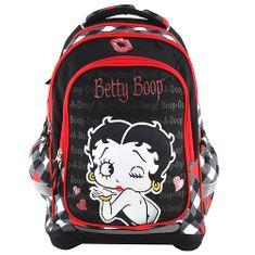 Betty Boop Cél iskolai hátizsák, Betty Boop, fekete színű