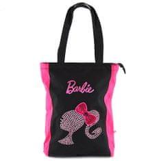 Barbie Nákupná taška , ružovo/čierna, s motívom bábiky