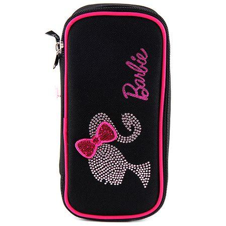 Škatla za svinčnike Barbie, eliptični, motiv Barbie silhuete