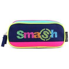 Smash Školní penál bez náplně , zelený/tmavě modrý