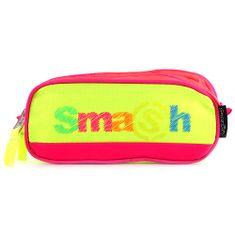 Smash Školní penál bez náplně , růžový/neonově žlutý