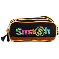 Smash Iskolai ceruzatok utántöltő nélkül, 2 zseb, fekete / neon narancs
