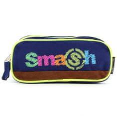 Smash Iskolai ceruzatok utántöltő nélkül, 2 zseb, sötétkék / neon sárga