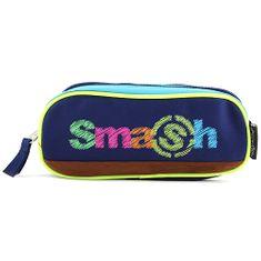 Smash Iskolai ceruzatok utántöltő nélkül, 2 zseb, sötétkék / világoskék