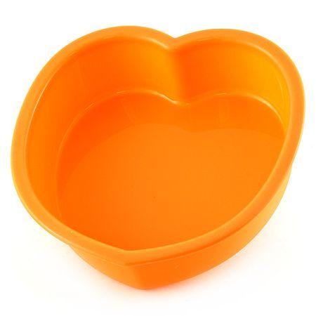 Smart Cook Sütőforma 11 x 11 x 3 cm, szilikon narancssárga, szív