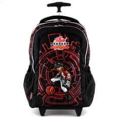 Bakugan Školní batoh trolley , černý