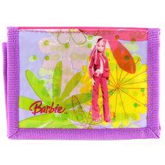 Barbie denarnica, roza / vijolična, z motivom lutke