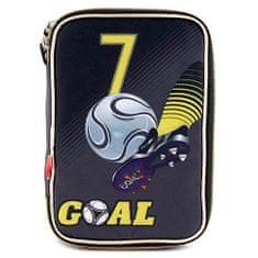 Goal Piórnik szkolny z wypełnianiem bramek, jednopiętrowy, czarny