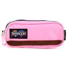 Smash Školní penál bez náplně , růžový, 2 kapsy