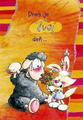 Diddl & Friends Blahopřání Diddl a jeho přátelé, Dnes je tvoj deň…