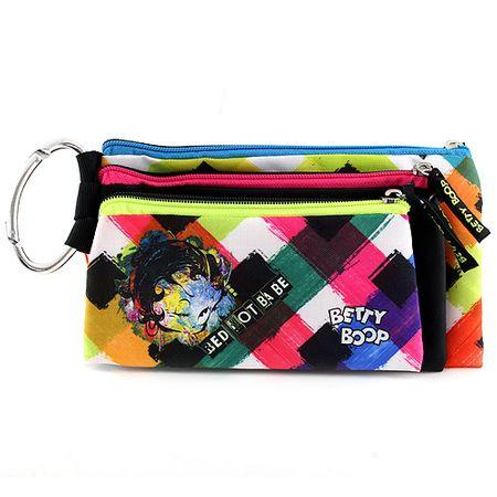 Betty Boop Iskolai ceruza tok, hármas , 3 db, színes, baba motívummal