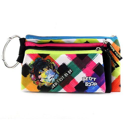 Betty Boop Školní penál trojitý , 3ks, barevné, s motivem panenky