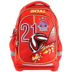 Goal Cél iskolai hátizsák, 3D cél, piros színű