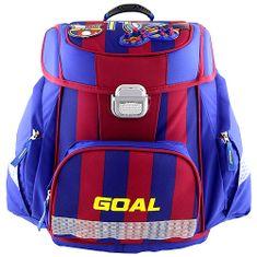 Goal Teczka szkolna, Bramka 3D, kolor niebieski