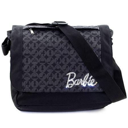 Barbie torba za rame, črna, s srebrnim napisom