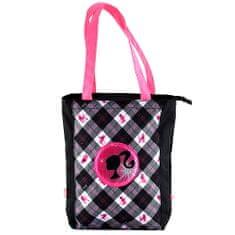Barbie Nákupná taška , čierna s bielo/ružovým motívom bábiky