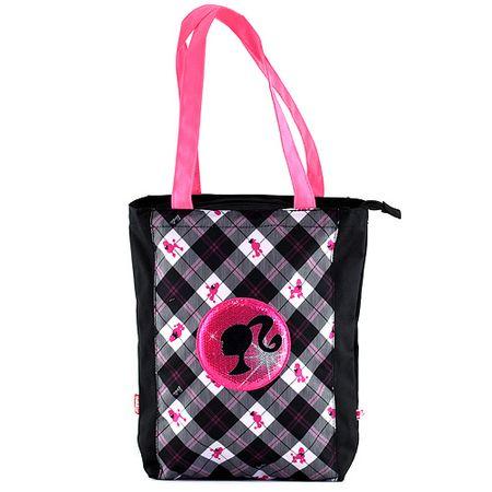 Barbie Torba na zakupy , czarny z biało-różowym motywem lalki