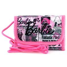 Barbie Peněženka s poutkem , růžová, popsaná, s černým nápisem