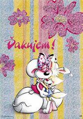 Diddl & Friends Blahopřání Diddl a jeho přátelé, Ďakujem!