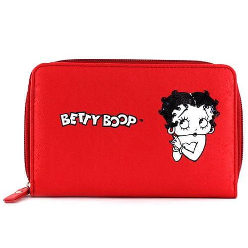 Betty Boop Peněženka , červená s motivem panenky