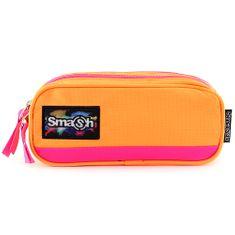 Smash Školní penál bez náplně , neonově oranžový s růžovým lemováním