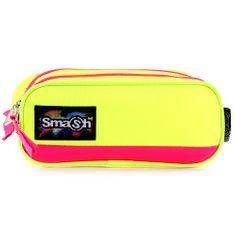 Smash Školní penál bez náplně , neonově žlutý s růžovým lemováním