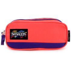 Smash Školní penál bez náplně , neonově růžový s fialovým lemováním