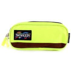 Smash Školní penál bez náplně , neonově žlutý, 2 kapsy