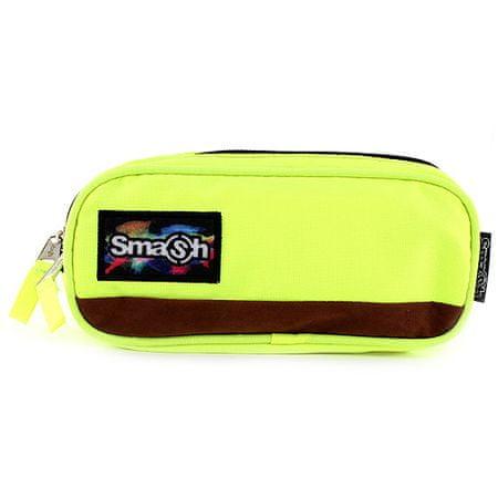 Smash Iskolai ceruzatok utántöltő nélkül, neon sárga, 2 zsebbel