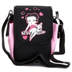 Betty Boop Betty Boop válltáska, rózsaszín / fekete, Betty Boop baba motívummal
