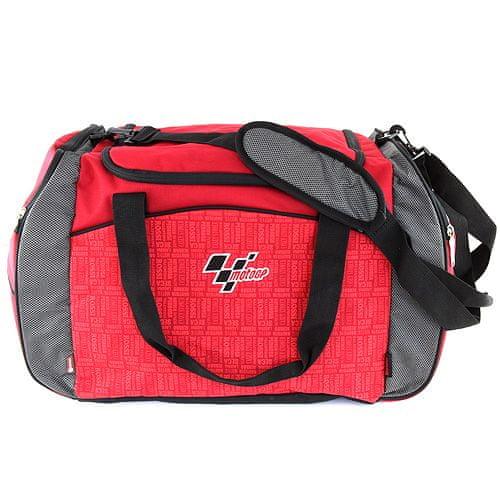 Moto GP Športová taška , červená s čiernym lemovaním, s bielym nápisom