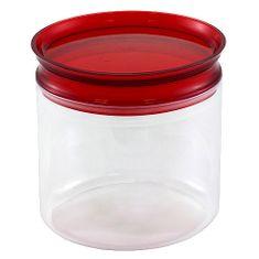 Smart Cook Dóza s uzávěrem , plastová oválná červená