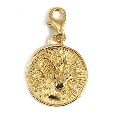 """Thomas Sabo Přívěsek """"Znamení zvěrokruhu Kozoroh"""" , 1661-414-39, Charm Club, 925 Sterling silver, 18k yellow gold plating, zirconia white"""